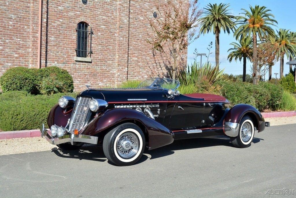 1936 AUBURN BOATTAIL SPEEDSTER RARE 5 SEAT BUILT IN '71