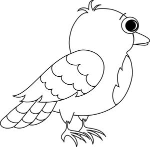 cartoon birds coloring pages - photo#27