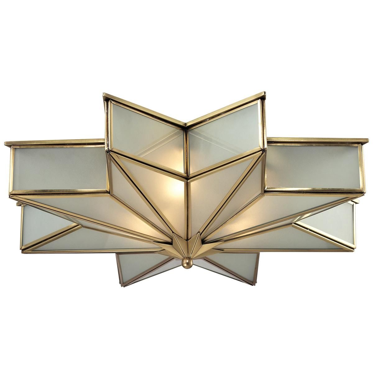 Frosted Glass Star Ceiling Light | Star struck! | Pinterest ...