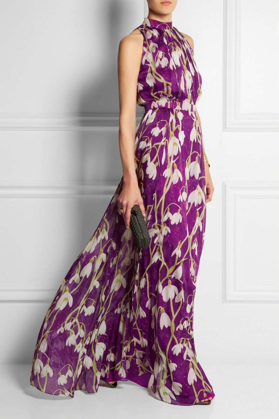 Matthew Williamson   Printed silk-chiffon gown   NET-A