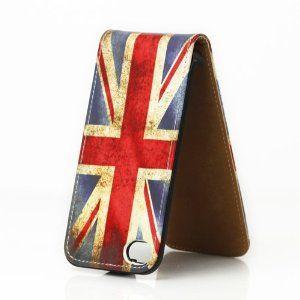 Union Jack Custodia in Pelle per iPhone 4 / 4G / 4S - Flip Case Cover + 2 Pellicola Protettiva Schermo: Amazon.it: Elettronica
