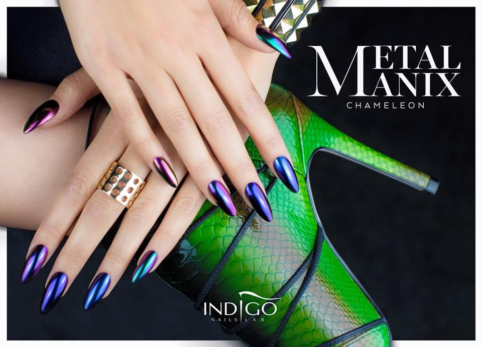 MetalManix Chameleon by Kasia Wojtczak, Indigo Team Lodz #nails ...