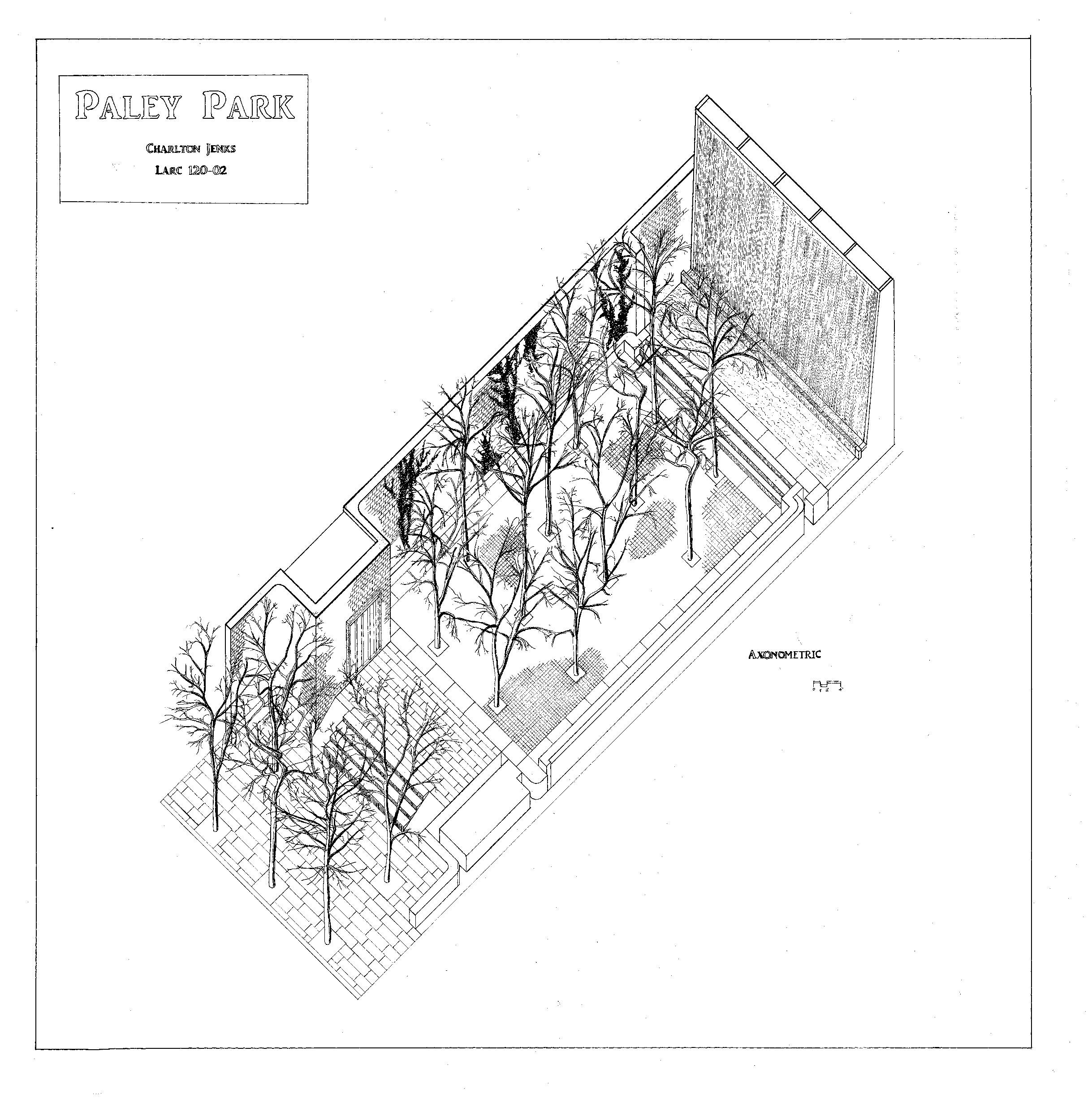 Axonometric View Of Paley Park