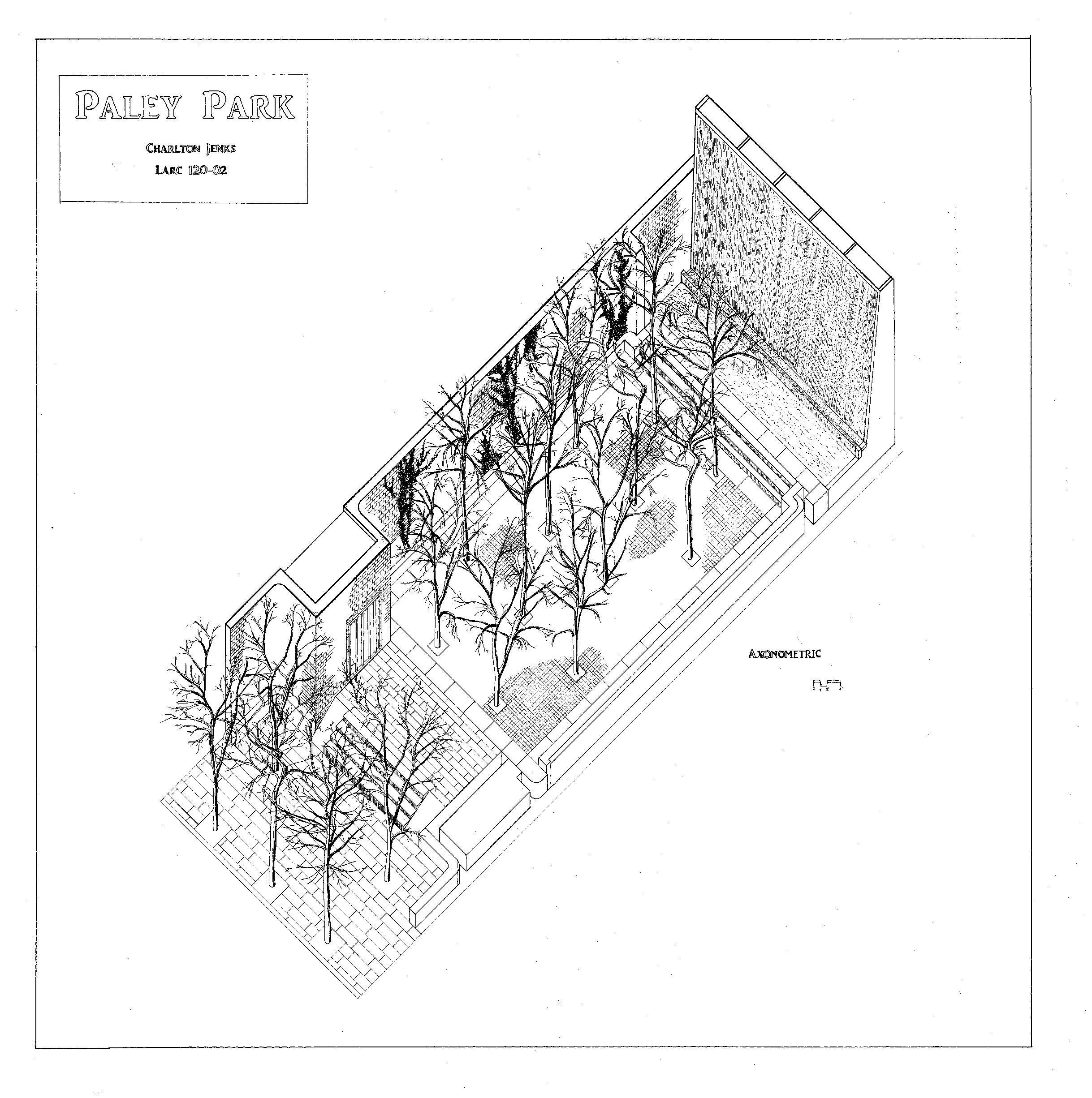 Axonometric View Of Paley Park