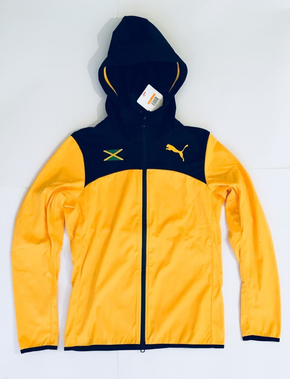 Puma Womens Jamaica 2017 Athlete Warm Up Hooded Jacket Spectra Yellow Xs S M Clothes For Women Clothes Jackets