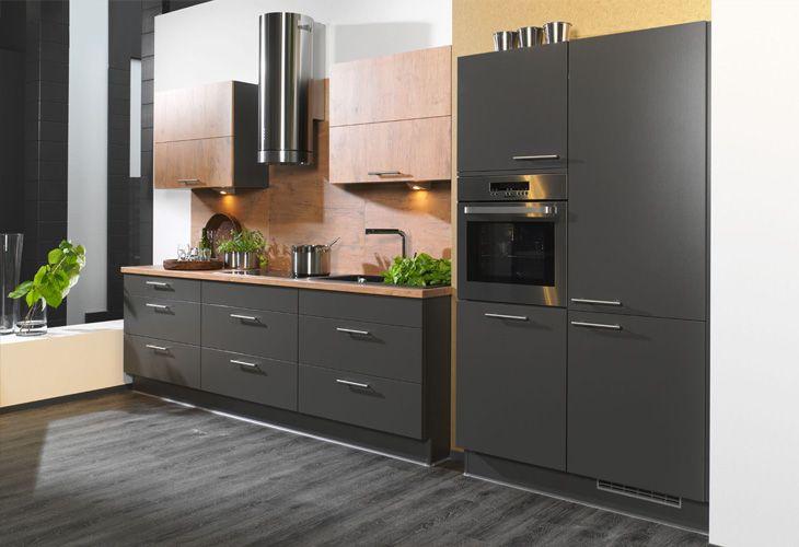 k che in anthrazit k chenzeile. Black Bedroom Furniture Sets. Home Design Ideas