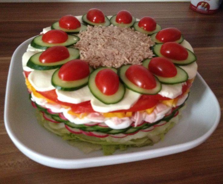salattorte rezept essen pinterest salat salat rezepte und vorspeisen salat. Black Bedroom Furniture Sets. Home Design Ideas