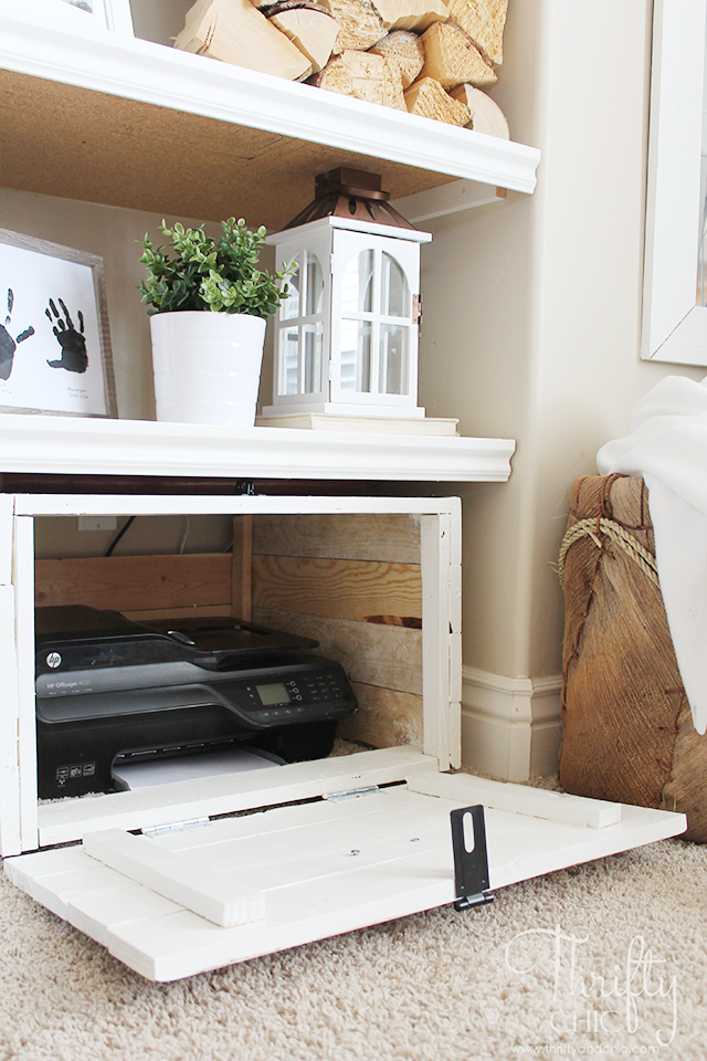 Diy Hidden Printer Storage In A Cabinet Make It Wver Size You Need To Fit Your E