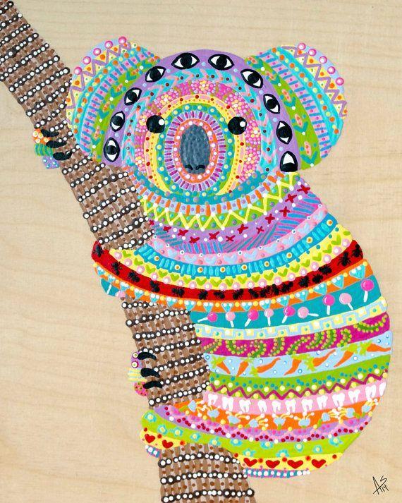 Koala Art And Design : Koala bear paintings yahoo image search results