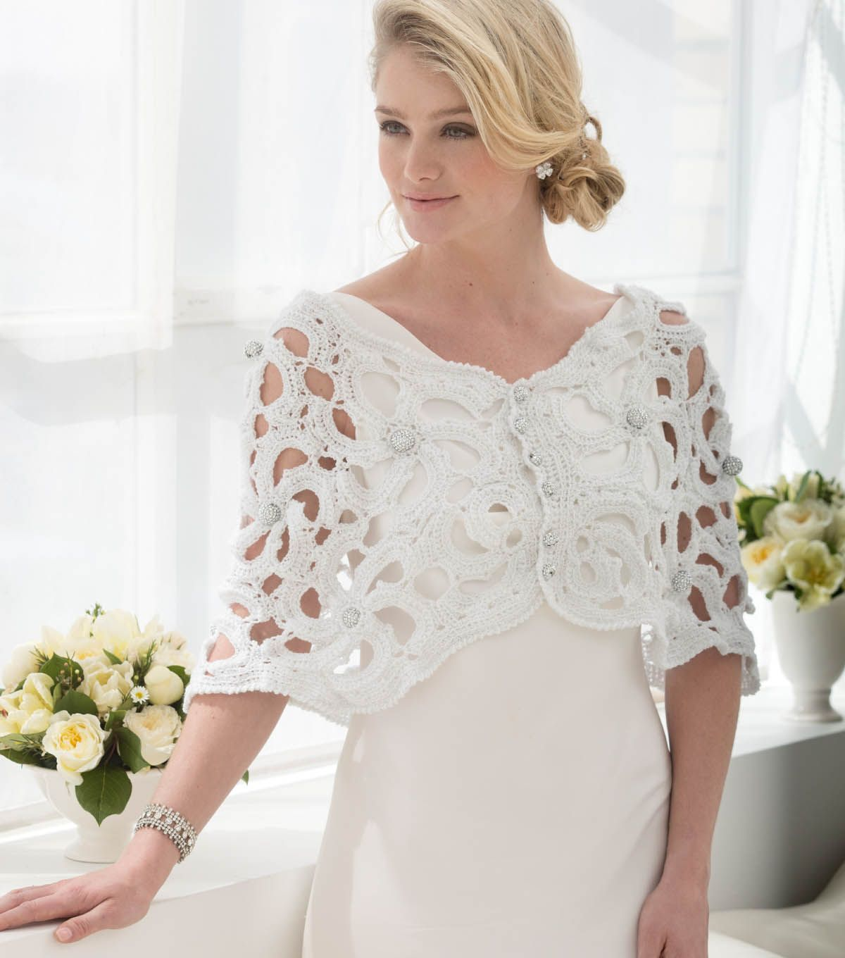 How to make a wedding capelet free crochet pattern diy wedding how to make a wedding capelet free crochet pattern diy wedding dt1010fo