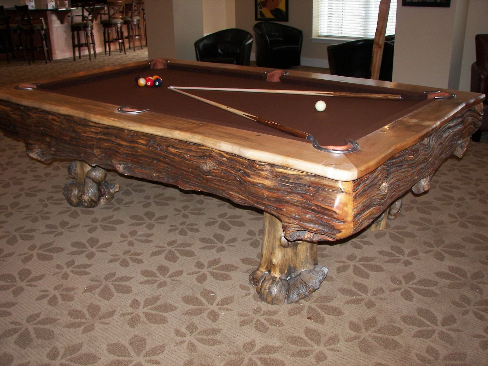 Vaal Pool Table. With its fringe pockets and dental work
