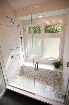 Bench Under The Window Bathroom Shower Windows