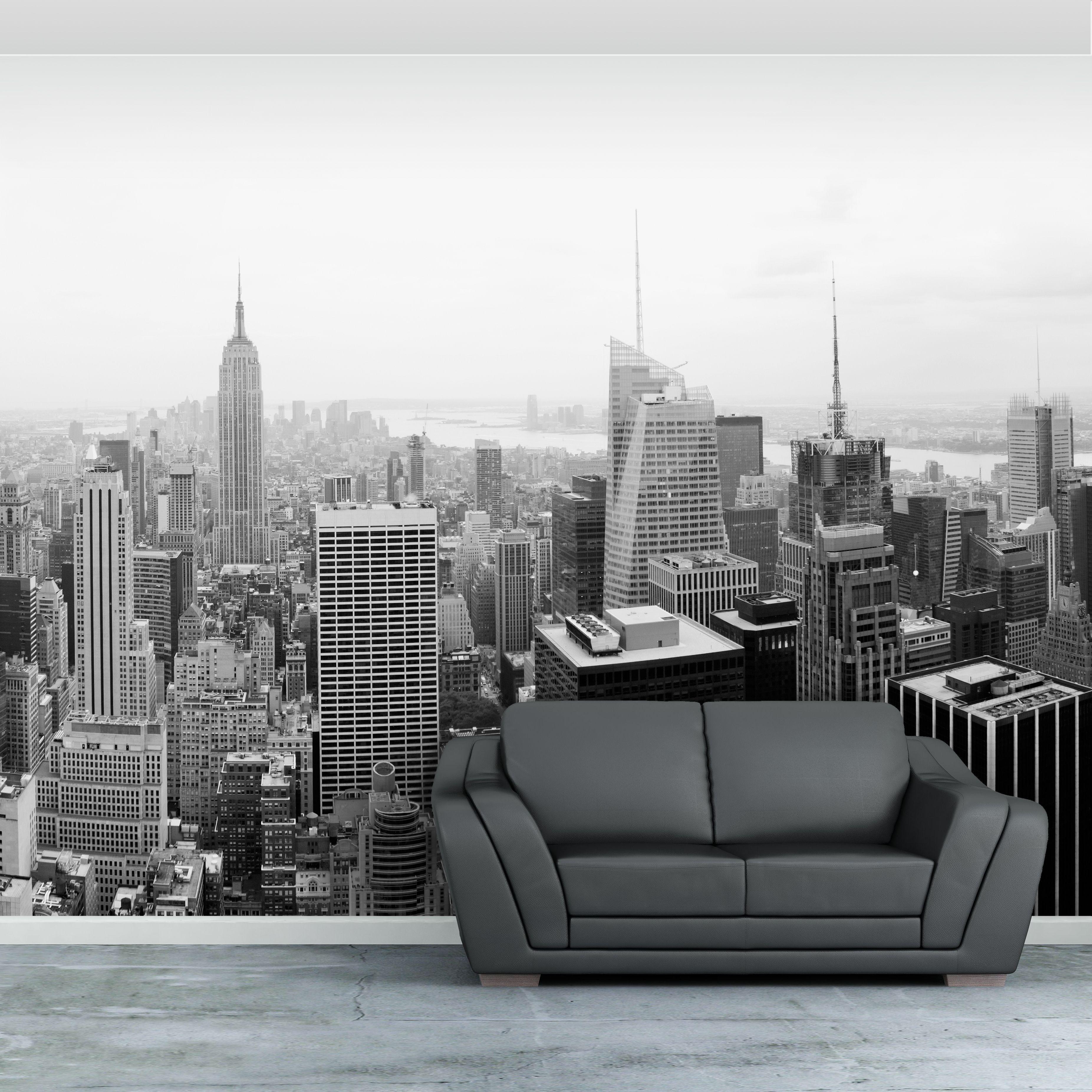 New York City Self Adhesive Wallpaper Mural Cityscape Wallpaper Mural Wallpaper Wallpaper Bedroom