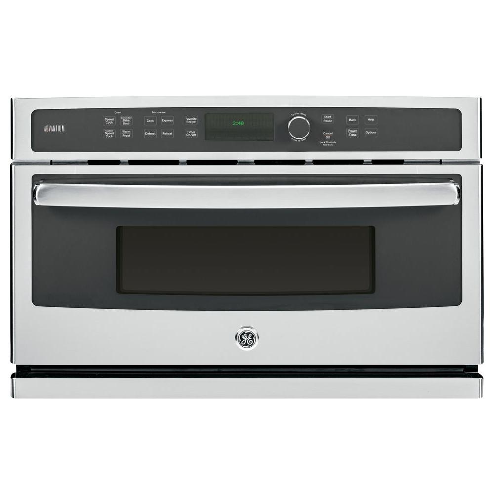 Ge Profile 30 In Single Electric Wall Oven With Advantium Cooking
