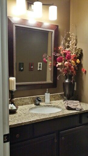 Guest bathroom my home and other decor projects for Bathroom arrangement designs
