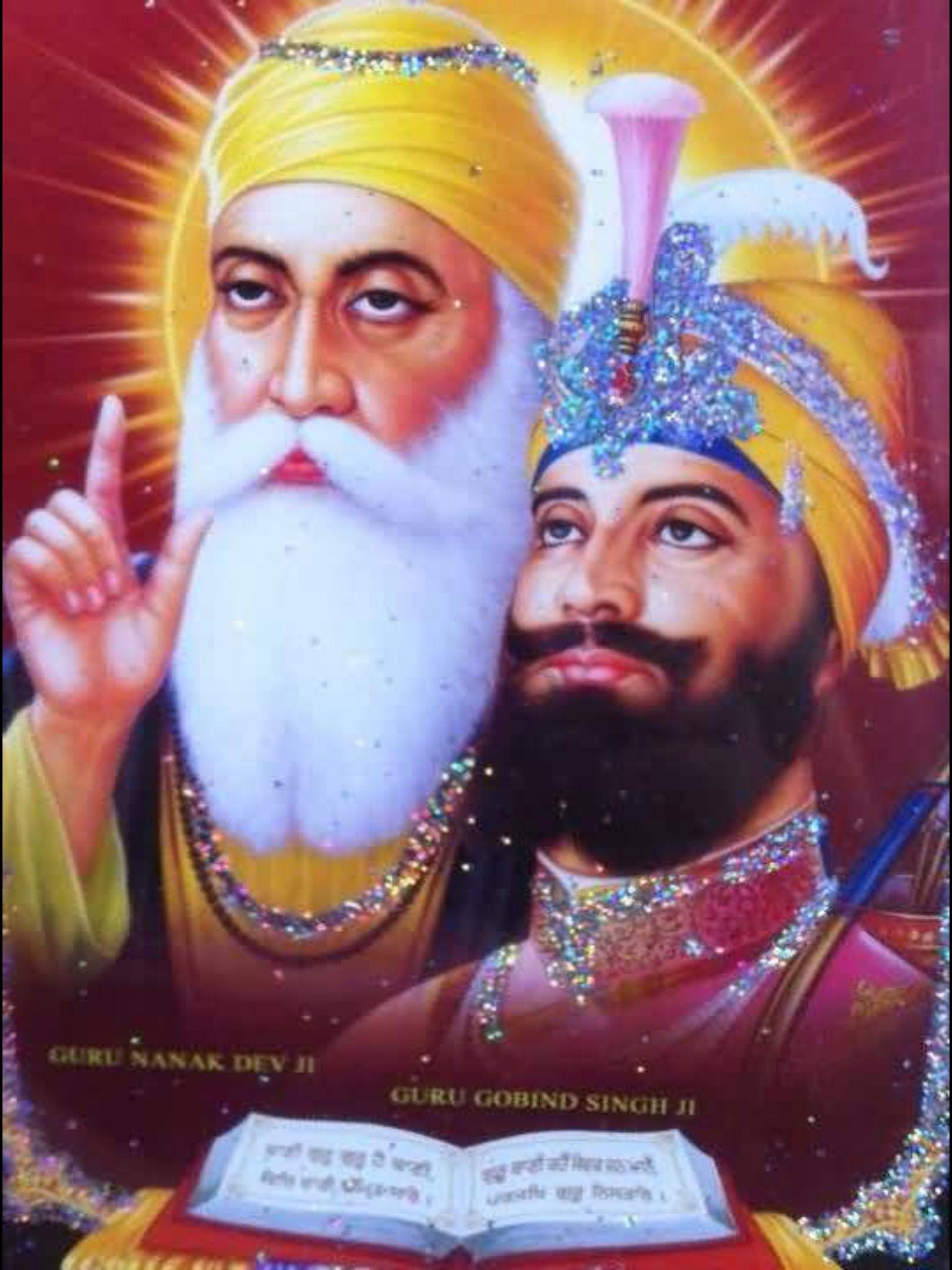 Guru Nanak and Guru Gobind Singh | Guru Nanak | Pinterest ...