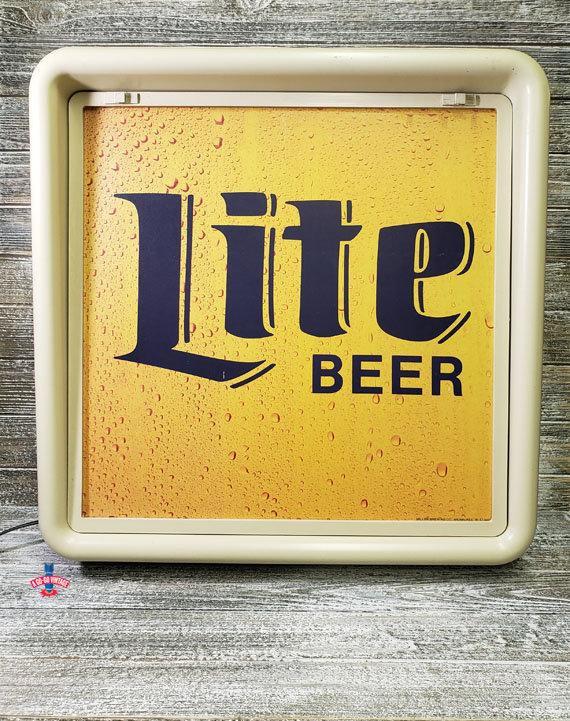 Vintage Lite Beer Light Miller Lite Light Vintage Beer Sign Bar