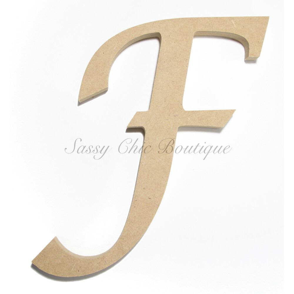 Unfinished wooden letter uppercase f lucida Lucida calligraphy free