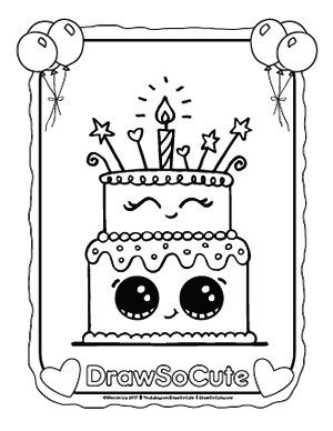 Coloring Pages Draw So Cute Kawaii Cute Drawings Drawings