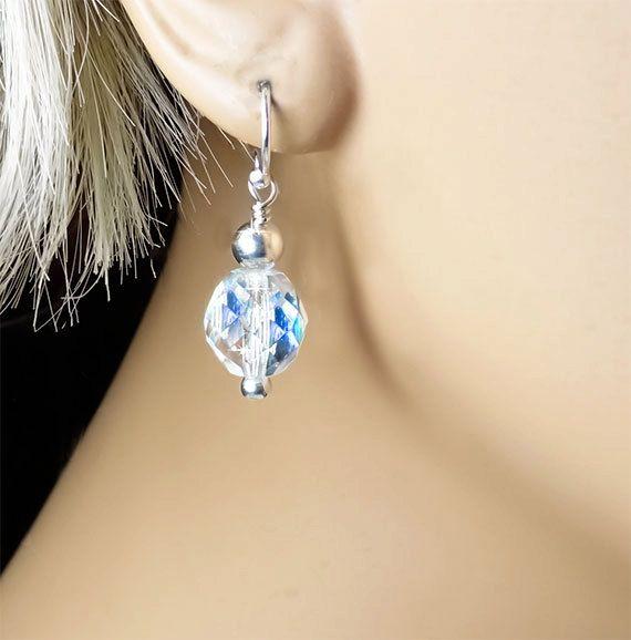Swarovski Crystal Bridal Earrings by PixieDustFineries