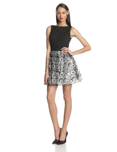 erin Erin Fetherston Women's Peony 3D Floral Organza Sleeveless Dress, Black/Ivory, 0 ERIN erin fetherston,http://www.amazon.com/dp/B00I5P63QW/ref=cm_sw_r_pi_dp_4h-jtb0NMB0Q390R
