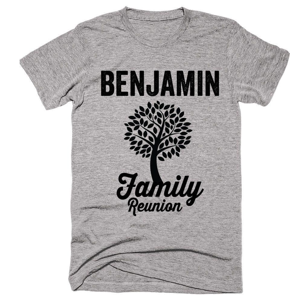 BENJAMIN Family Name Reunion Gathering Surname T-Shirt