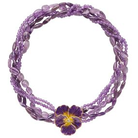 The Met Store - Russian Imperial Pansy Torsade Necklace with Amethyst