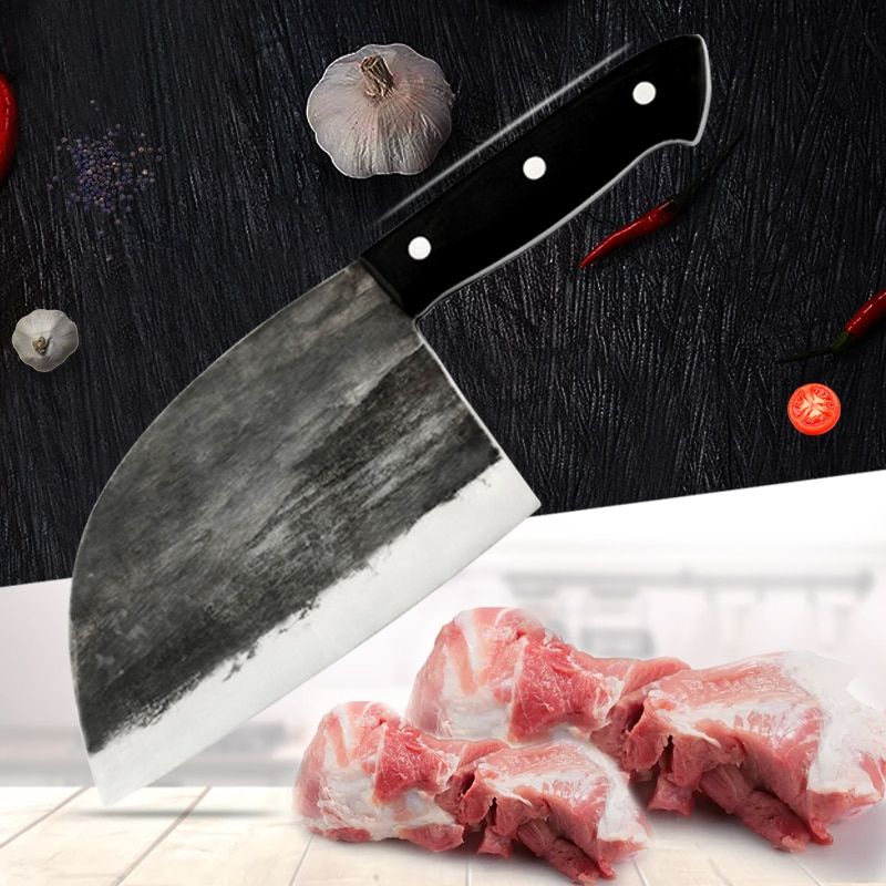 65 Handmade Full Tang Butcher Chef Meat Bone Kitchen Knife Tools Forged Highcarbon Clad Steel Kit