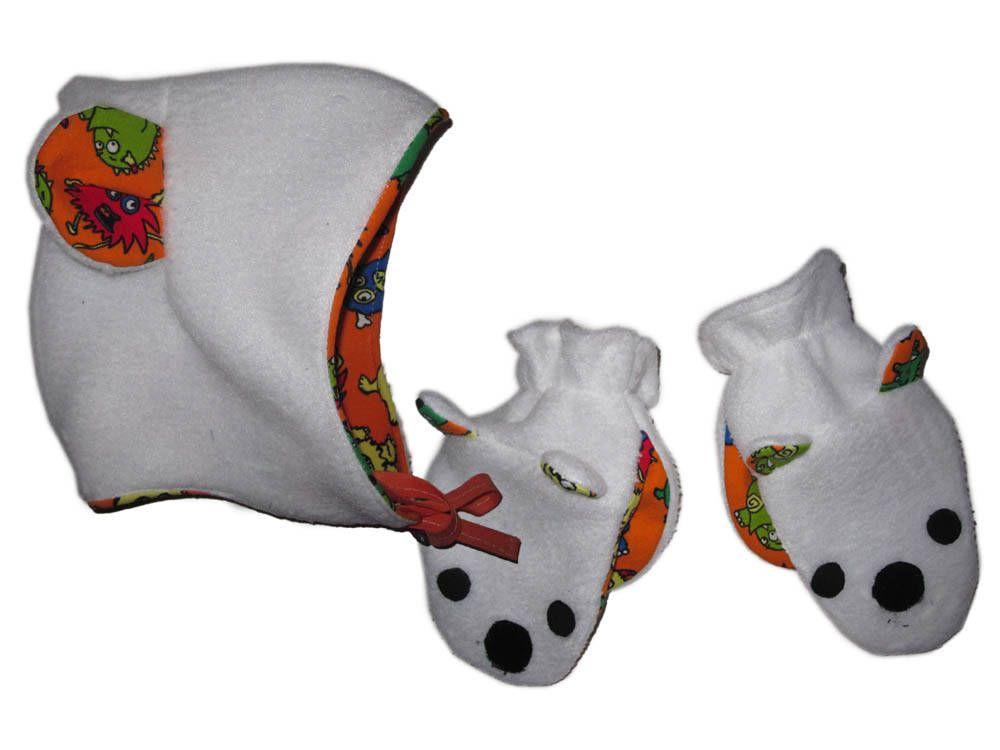 Mütze Handschuhe Schnittmuster Baby, Mütze mit Ohren, Handschuhe mit ...
