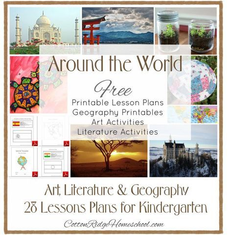 Around The World in 28 Weeks Lesson Plans For Preschool Through – 1St Grade Homeschool Lesson Plans