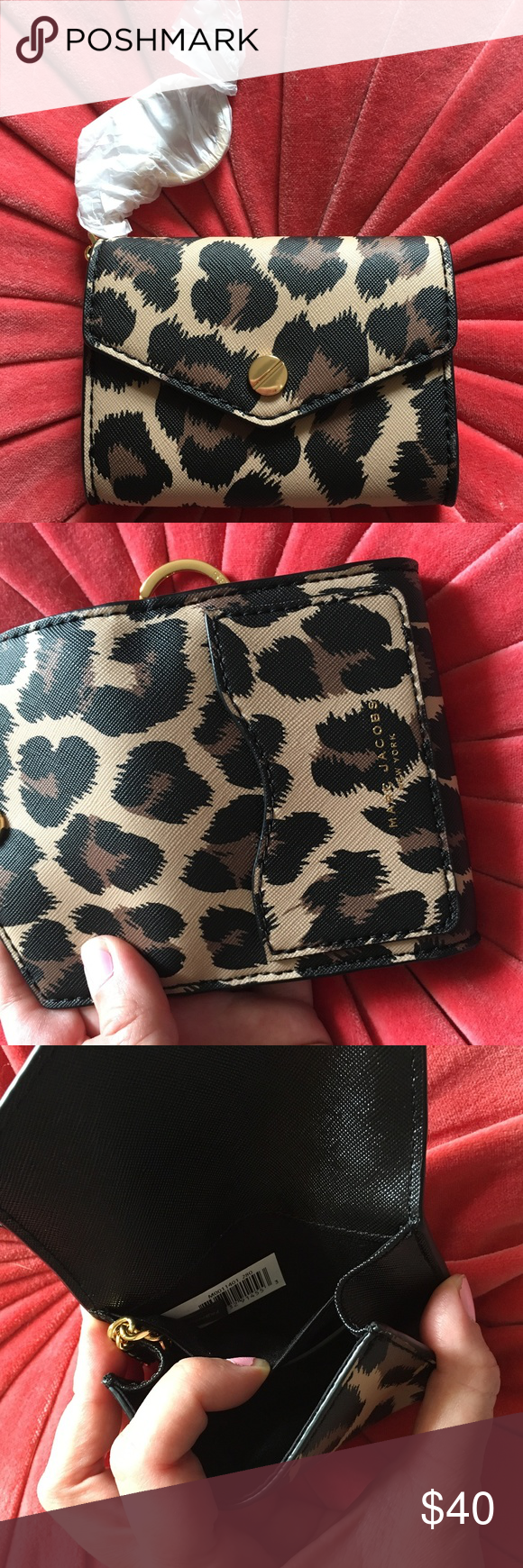 Marc Jacobs Leopard Print Coin Purse Card Holder | Pinterest