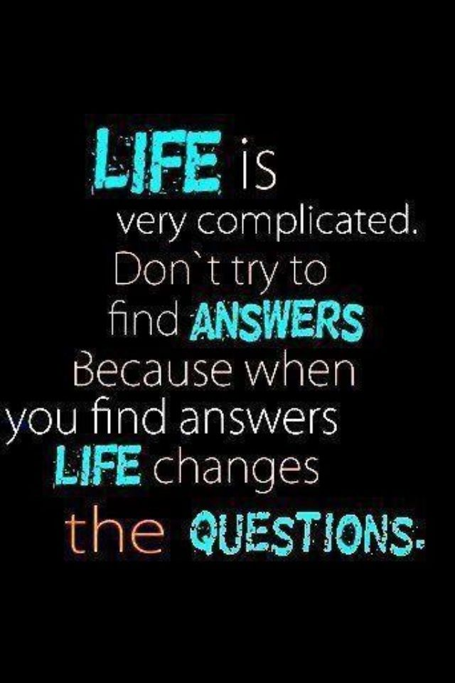 Life Is Very Complicated Powerful Words Positive Thots Interesting Very Inspiring Quotes About Life