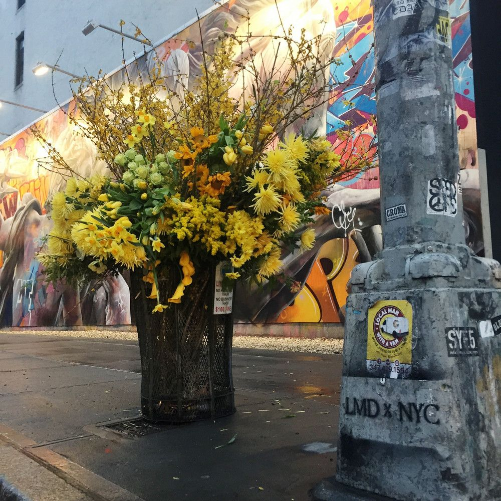 Flower Flashes Turn Nyc Trash Cans Into Giant Bouquets Floral