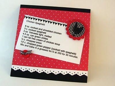 Chicken Spaghetti Recipe Card