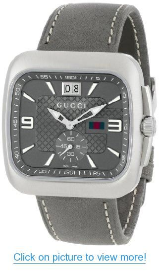 a203344f99c Gucci Men s YA131313 Gucci Coupe Anthracite Sun-Brushed Diamond Pattern Dial  Watch  Gucci  Mens  YA131313  Coupe  Anthracite  Sun Brushed  Diamond   Pattern ...