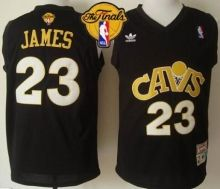 cavaliers 23 lebron james black cavs throwback the finals patch stitched nba jersey