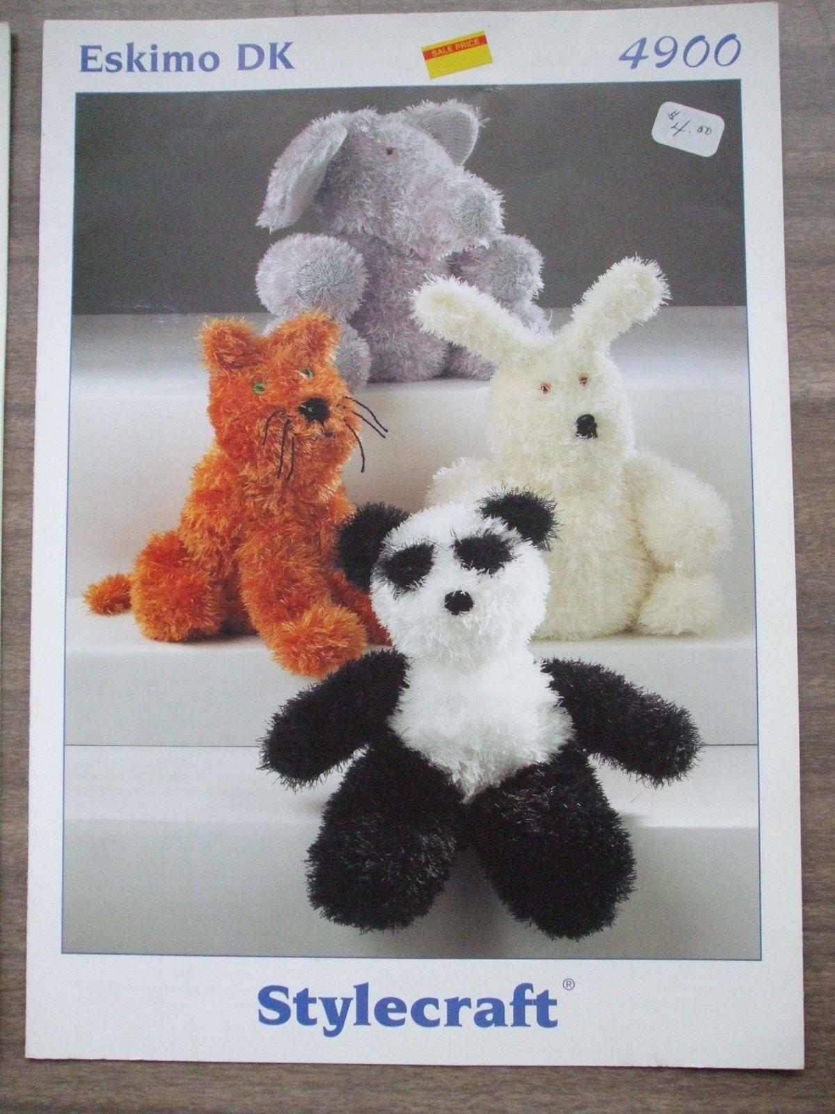 Stuffed Toys Animals Eskimo DK Stylecraft Knitting patterns pig duck ...
