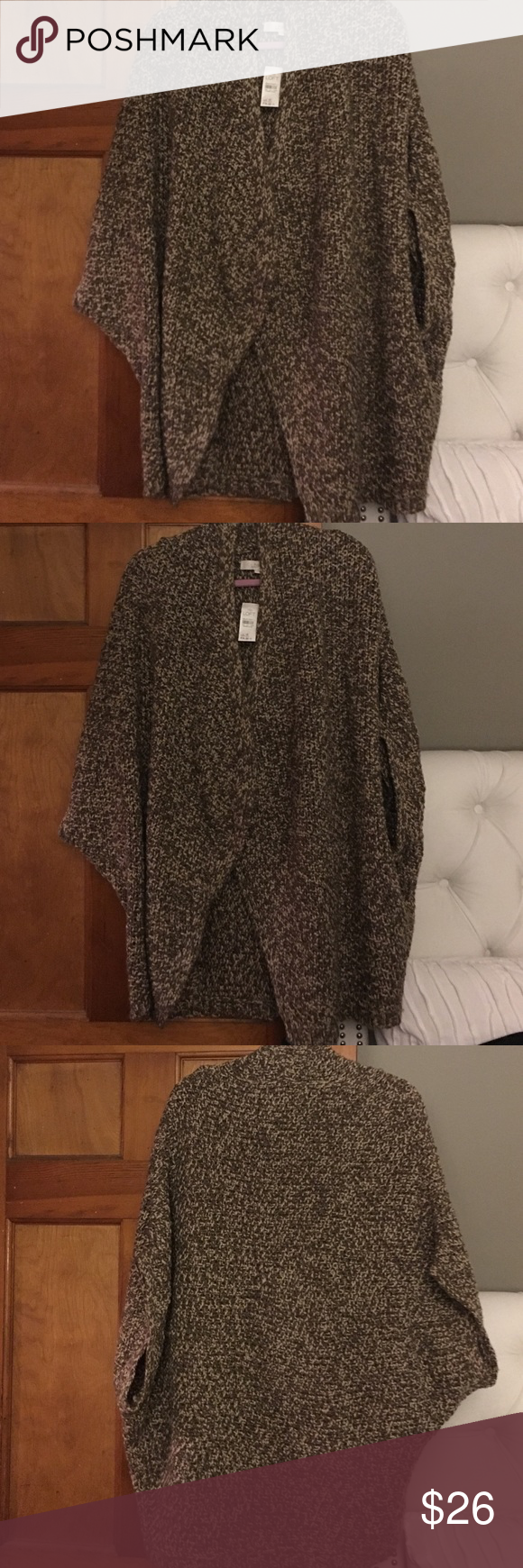 NWT Loft over sized shirt sleeve cocoon sweater NWT Loft oversized Cocoon sweater size L/XL so Cute and comfy LOFT Sweaters