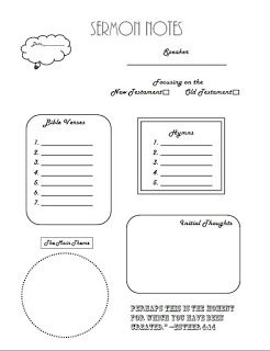 photograph relating to Printable Sermons named No cost Grownup Sermon Notes printable by means of Hoosier Homemaker