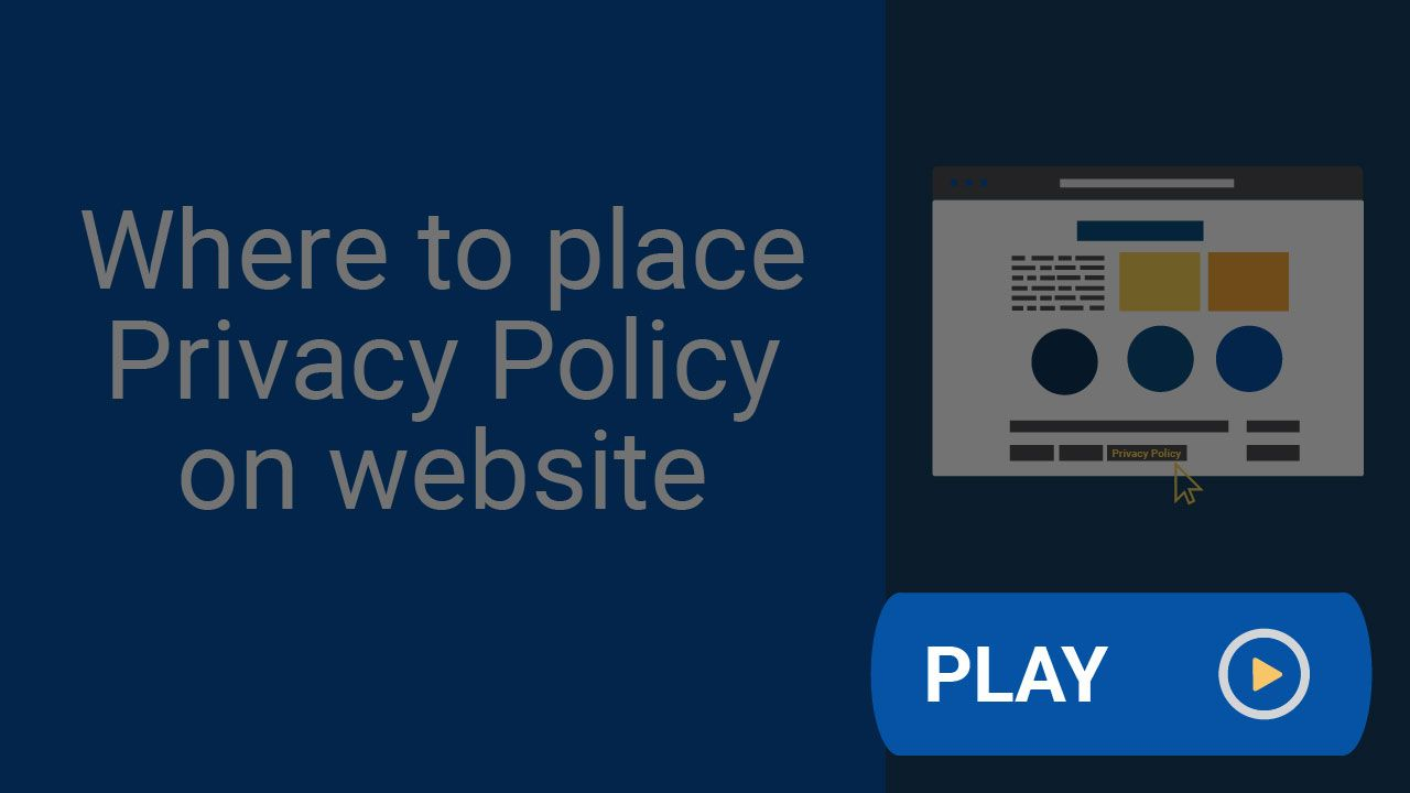 A Privacy Policy Is One Of The Most Important Pages Of Your Website The Most Common Place For A Privacy Policy Is In The Bot Privacy Policy Policies Privacy