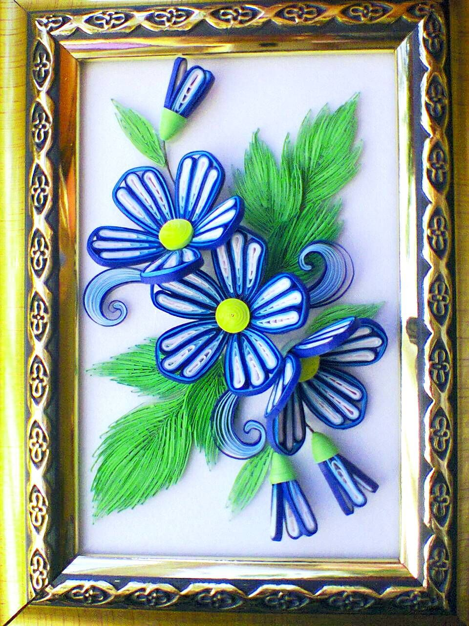 синие цветы для открытки своими руками светлый праздник пасхи