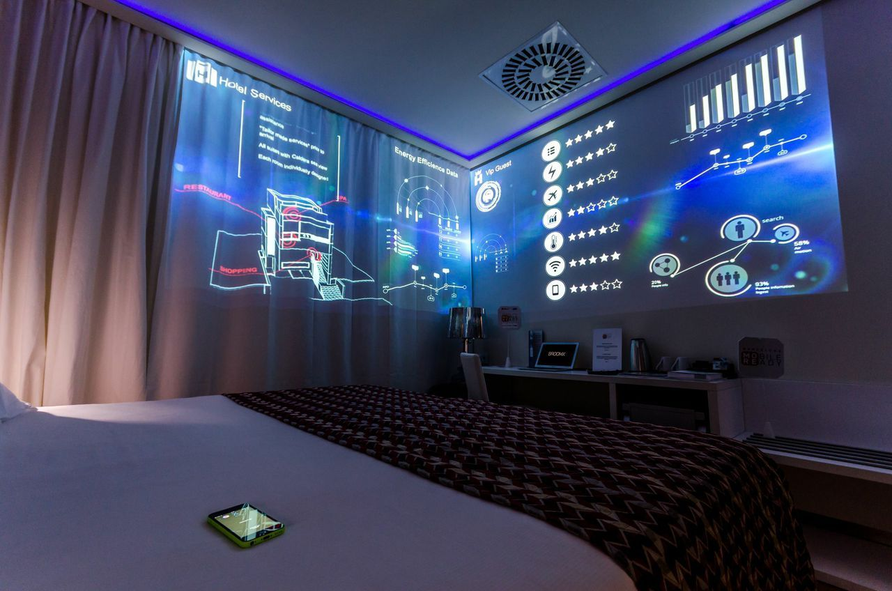 Hotel Eurostars BCN Design during the Mobile World Congress with @BroomxTech  #Barcelona #MWC2015 #EurostarsHotels #Eurostars #Future #Technology