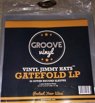 Groove Vinyl Gatefold Lp Premium Outer Record Sleeves 50 Pack 4mm Archival Vinyl Record Sleeves Groove Vinyl