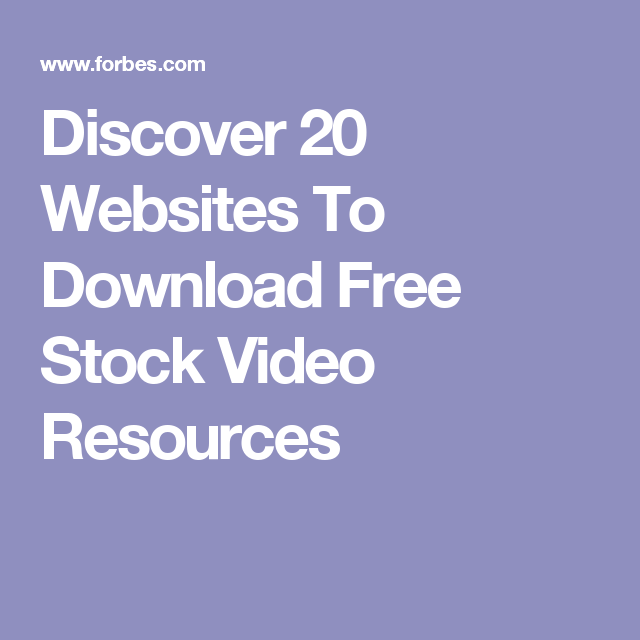 Discover 20 Websites To Download Free Stock Video ...