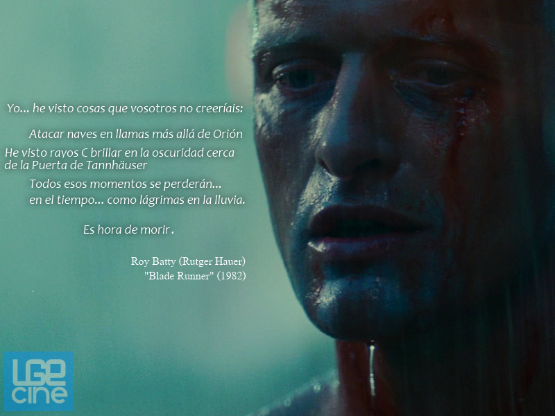 Rutger Hauer Blade Runner Quote