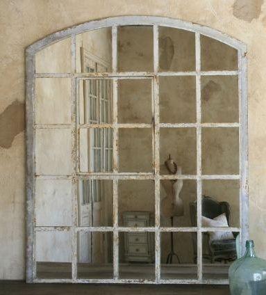 Large Antique Window Mirror I Have A Large Wood Framed