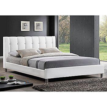Baxton Studio Vino Modern Bed w/ Upholstered Headboard