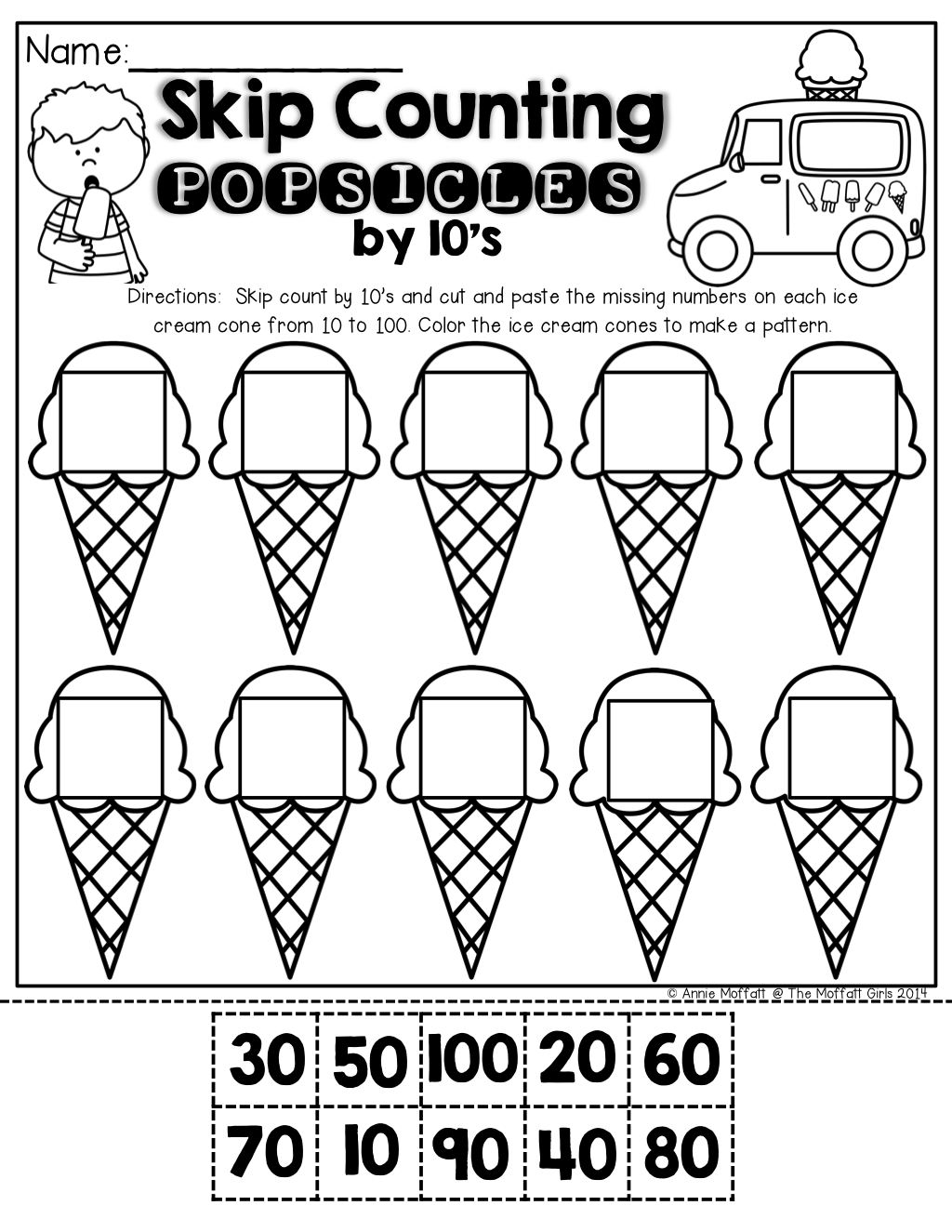 Summer Packet NO PREP Review (Kindergarten) | Skip counting ...