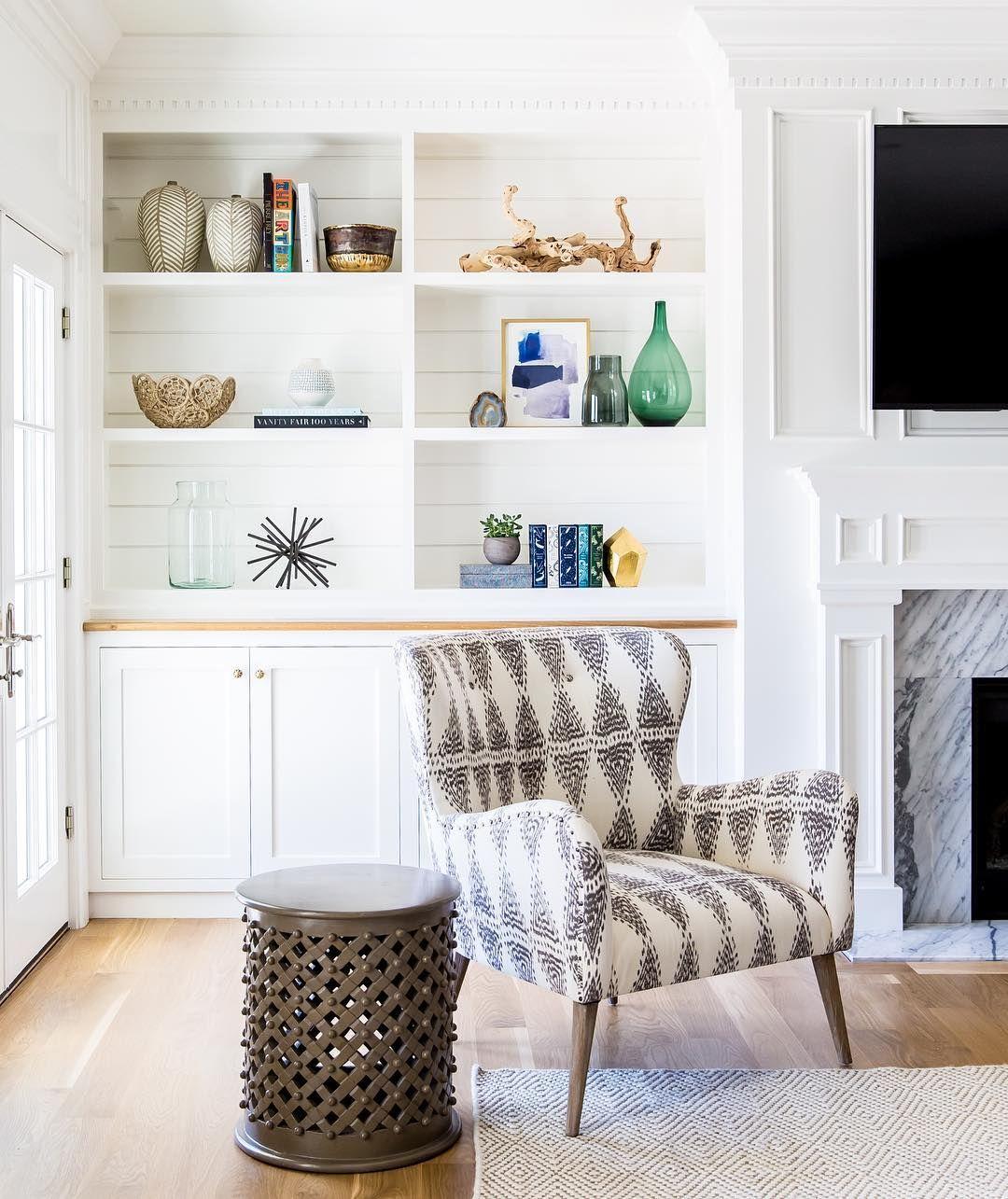 White built-in shelves    www.studio-mcgee.com   Living Rooms ...