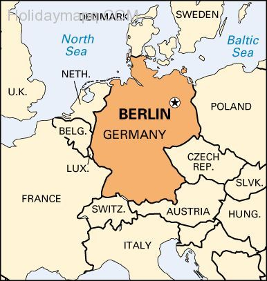 cool Map of europe berlin | Holidaymapq | Pinterest | Germany